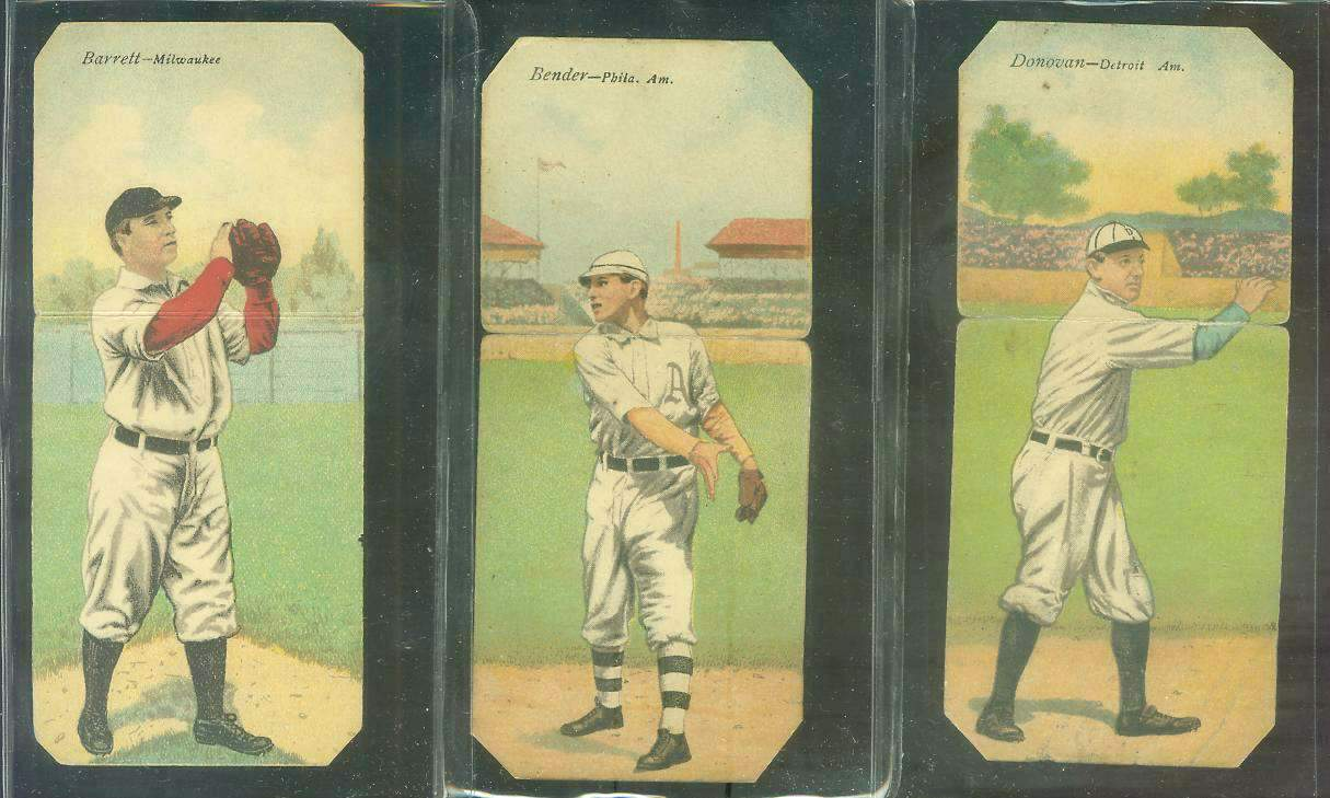 1911 Mecca Double Folders T201 #xx Chief Bender/Reuben Oldring Baseball cards value