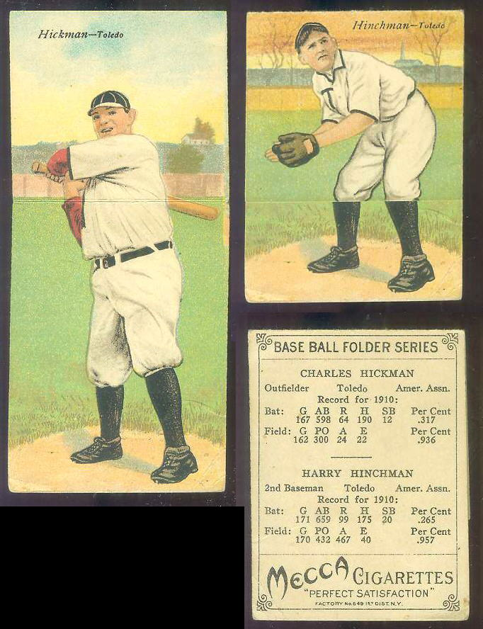 1911 Mecca Double Folders T201 #xx Charles Hickman/Harry Hinchman [#a] Baseball cards value