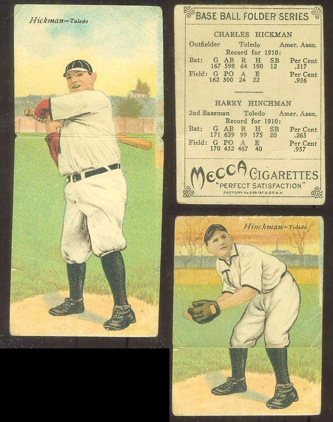 1911 Mecca Double Folders T201 #xx Charles Hickman/Harry Hinchman [#bsc] Baseball cards value