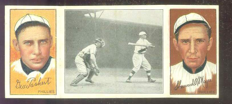 1912 Hassan Triple Folders T202 #29 George Paskert/Hal Chase/SR Magee [#sc] Baseball cards value
