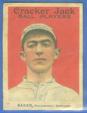 1914 Cracker Jack #.2 Frank 'Home Run' Baker (HALL-OF-FAMER !!!) Baseball cards value