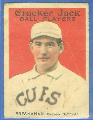 1914 Cracker Jack #17 Roger Bresnahan (HALL-OF-FAMER !!!) Baseball cards value