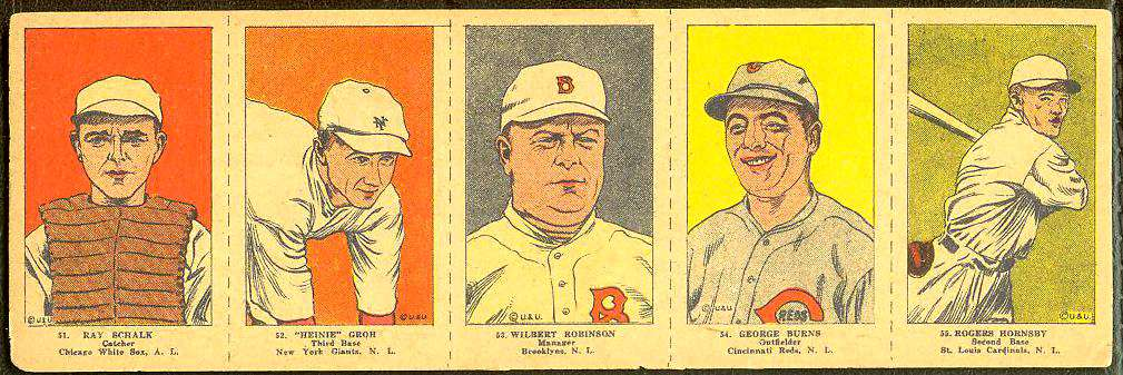 1923 Rogers Hornsby - COMPLETE 5-card W-515 Panel (Cardinals) Baseball cards value