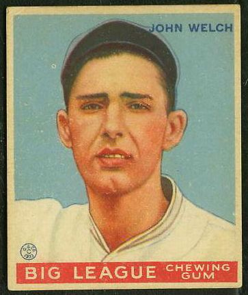 1933 Goudey #.93 John Welch (Red Sox) Baseball cards value