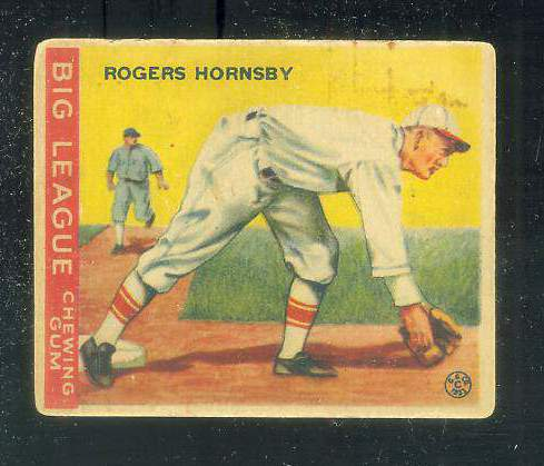 1933 Goudey #119 Rogers Hornsby (Fielding) Baseball cards value