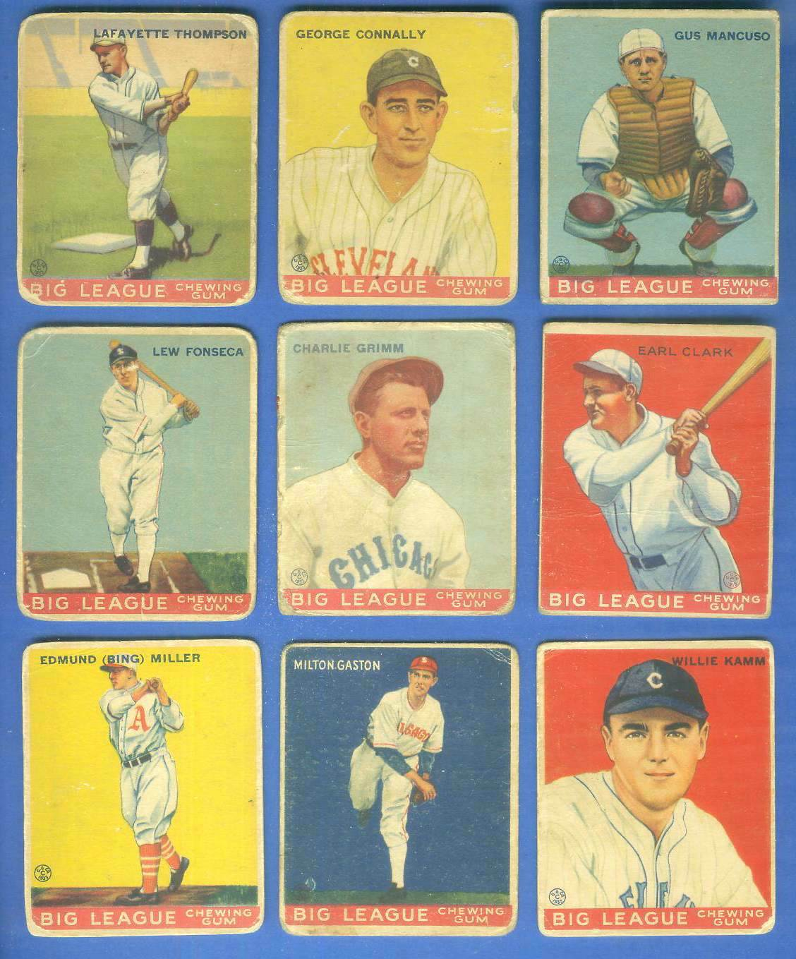 1933 Goudey #.41 Gus Mancuso (Catching) Baseball cards value