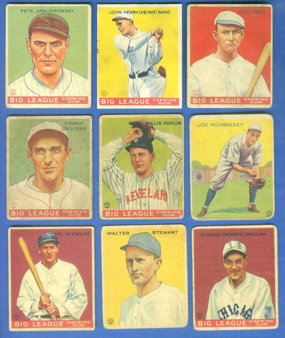 1933 Goudey #135 Woody English Baseball cards value