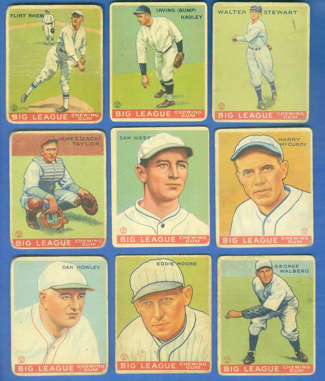 1933 Goudey #140 Bump Hadley Baseball cards value