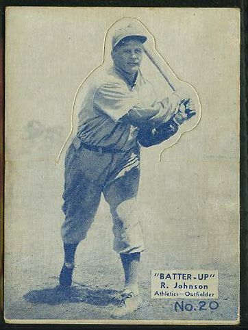 1934-36 Batter Up R318 #20 R. 'Bob' Johnson (Philadelphia A's) Baseball cards value