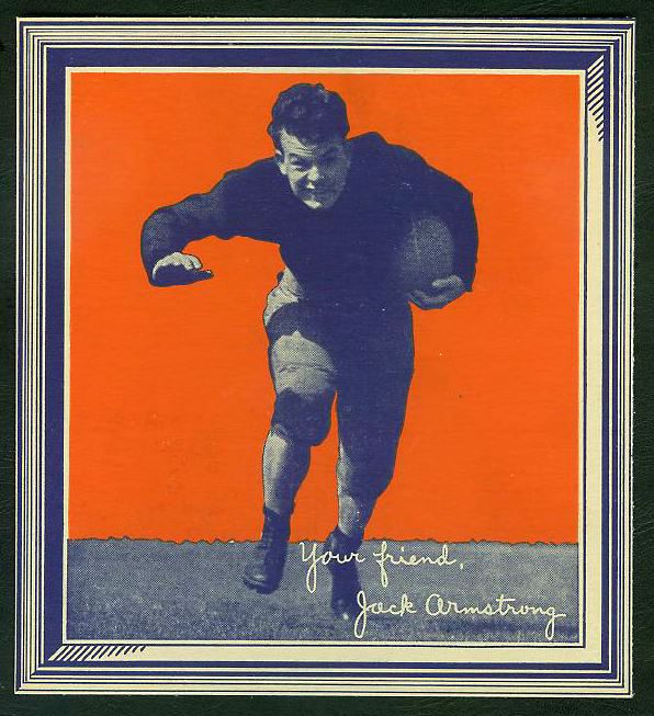 1935 Wheaties - Jack Armstrong (Football) WITH FRAME !!! Baseball cards value