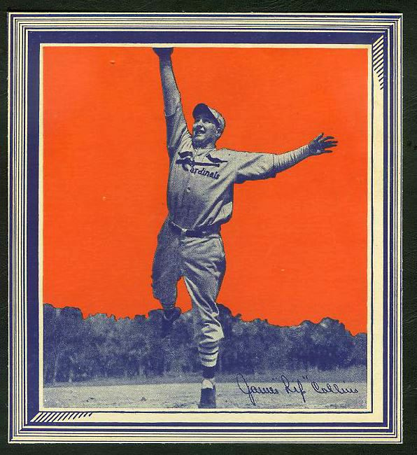 1935 Wheaties - James 'Rip' Collins WITH FRAME !!! Baseball cards value