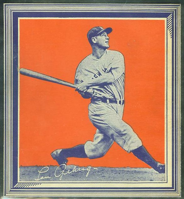 1935 Wheaties - Lou Gehrig WITH FRAME !!! (Yankees) Baseball cards value