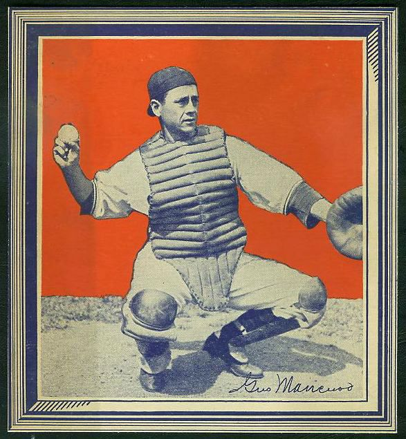 1935 Wheaties - Gus Mancuso WITH FRAME !!! Baseball cards value