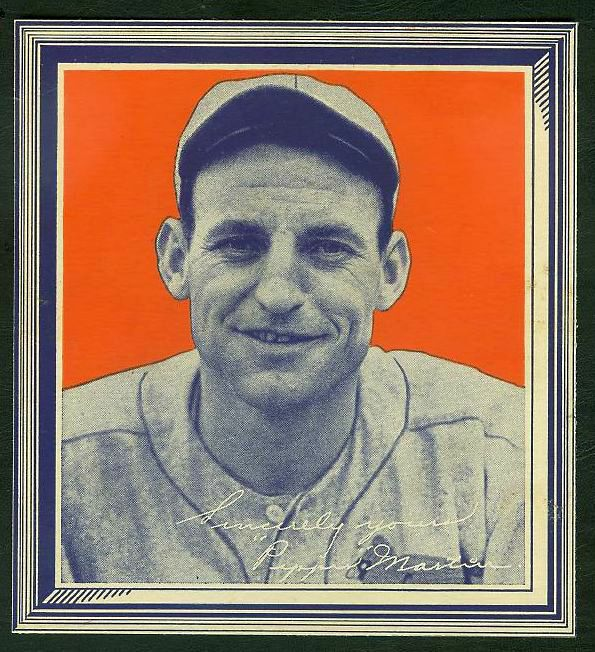 1935 Wheaties - Pepper Martin WITH FRAME !!! Baseball cards value