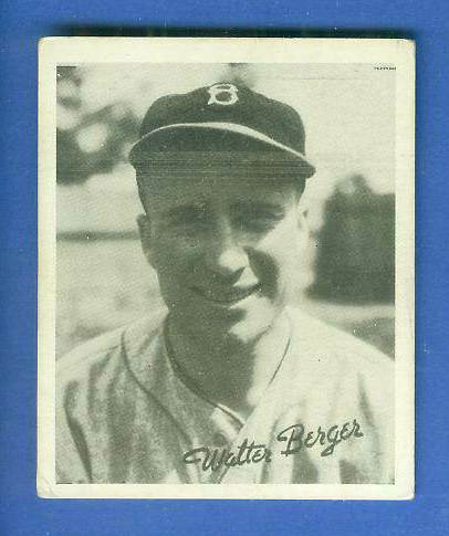 1936 Goudey B/W #.1 Wally Berger (Dodgers) Baseball cards value
