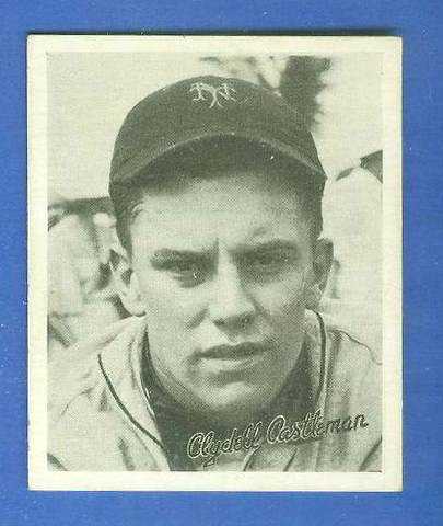 1936 Goudey B/W #.6 Clyde Castleman ROOKIE (NY Giants) Baseball cards value