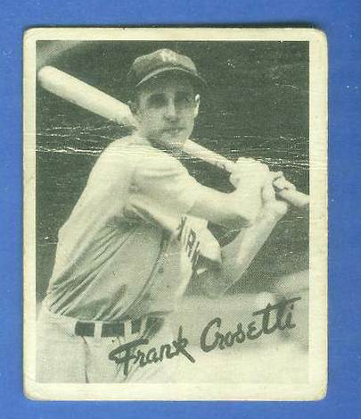 1936 Goudey B/W #.9 Frank Crosetti (Yankees) Baseball cards value
