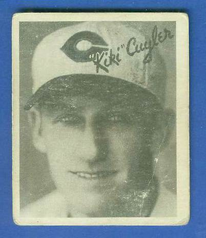 1936 Goudey B/W #10 Kiki Cuyler (Reds, HOF) Baseball cards value