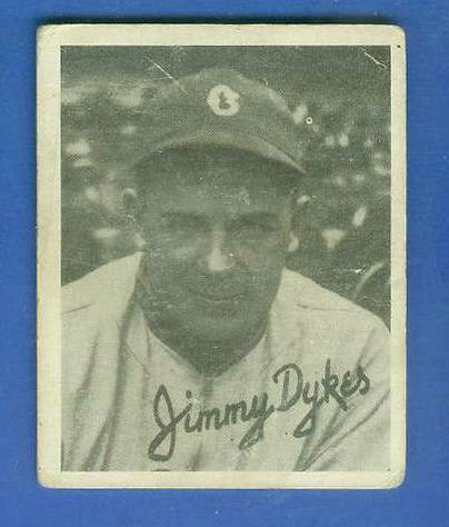 1936 Goudey B/W #12 Jimmy Dykes (White Sox) Baseball cards value