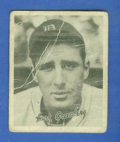 1936 Goudey B/W #15 Hank Greenberg (Tigers, HOF) Baseball cards value