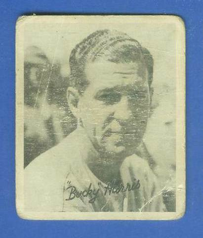 1936 Goudey B/W #16 Bucky Harris ROOKIE (Senators, HOF) Baseball cards value