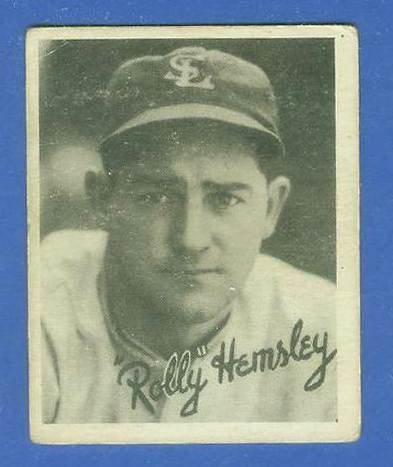 1936 Goudey B/W #17 Rollie Hemsley (St. Louis Browns) Baseball cards value