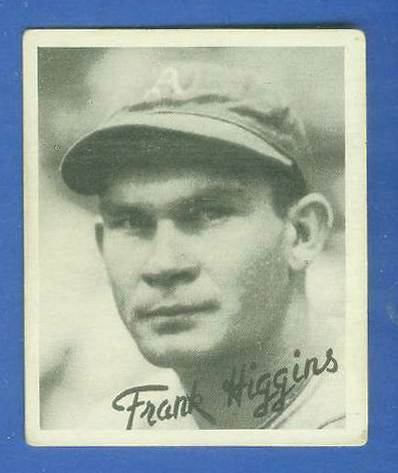1936 Goudey B/W #18 Pinky Higgins (Philadelphia A's) Baseball cards value