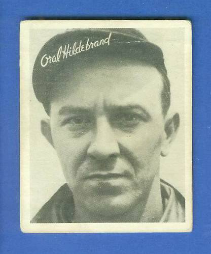 1936 Goudey B/W #19 Oral Hildebrand (Indians) Baseball cards value
