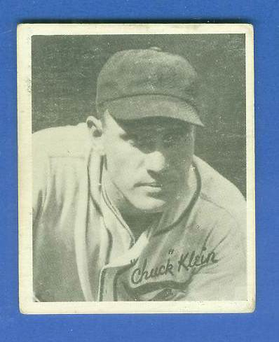 1936 Goudey B/W #20 Chuck Klein (Cubs, Hall-of-Fame) Baseball cards value
