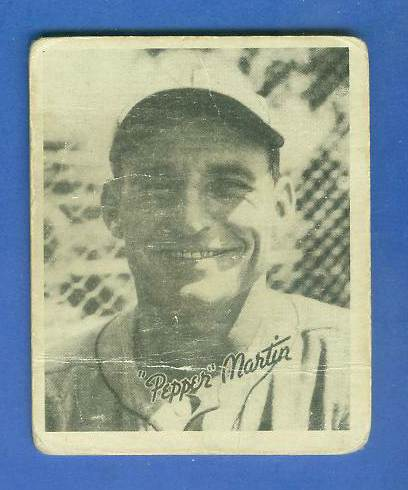 1936 Goudey B/W #21 Pepper Martin (Cardinals) Baseball cards value