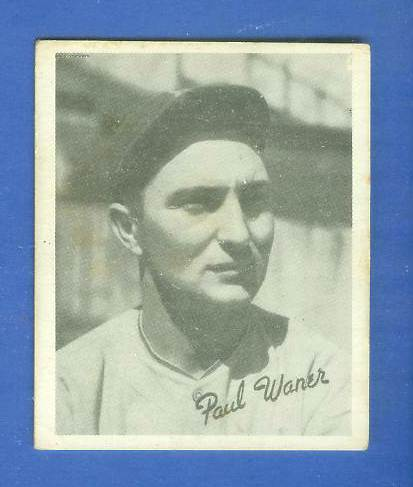1936 Goudey B/W #24 Paul Waner (Pirates, HOF) Baseball cards value