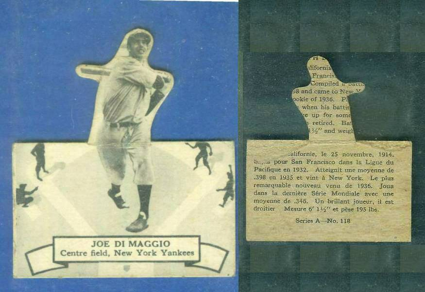 1937 O-Pee-Chee 'Batter Ups' #118 Joe DiMAGGIO (Yankees) Baseball cards value