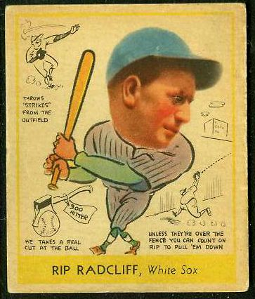 1938 Goudey #285 Raymond 'Rip' Radcliff (White Sox) Baseball cards value