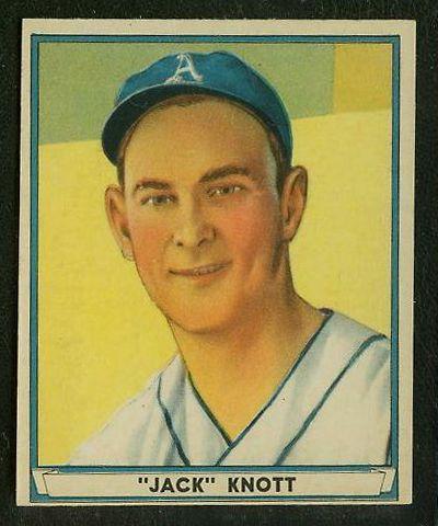 1941 Play Ball #.68 John 'Jack' Knott (Philadelphia A's) Baseball cards value