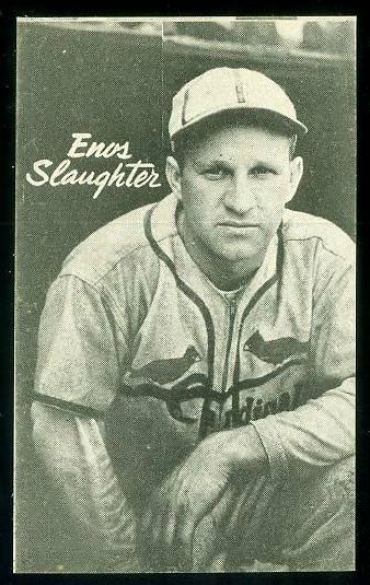1947 Homogenized Bond Bread - Enos Slaughter (Cardinals) Baseball cards value