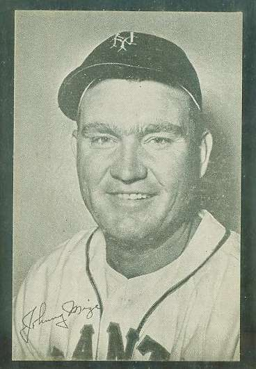 1947 Homogenized Bond Bread - Johnny Mize (Giants) Baseball cards value