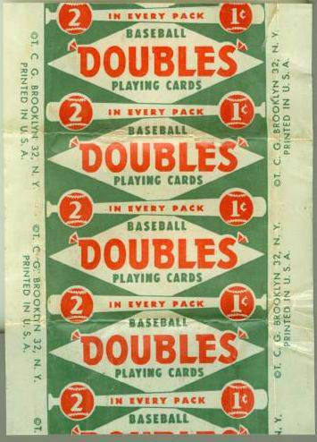 1951 Topps  - Red Backs WAX WRAPPER Baseball cards value