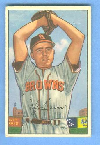 1952 Bowman #.29 Ned Garver (St. Louis Browns) Baseball cards value