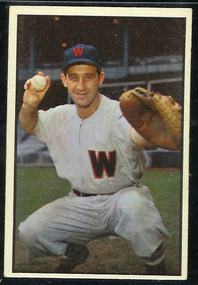 1953 Bowman Color #.77 Mickey Grasso (Senators) Baseball cards value