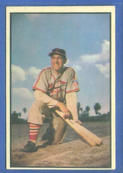 1953 Bowman Color #.81 Enos Slaughter (Cardinals) Baseball cards value