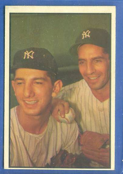 1953 Bowman Color #.93 Phil Rizzuto/Billy Martin (Yankees) Baseball cards value