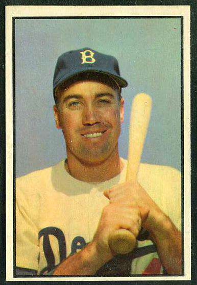 1953 Bowman Color #117 Duke Snider (Brooklyn Dodgers) Baseball cards value