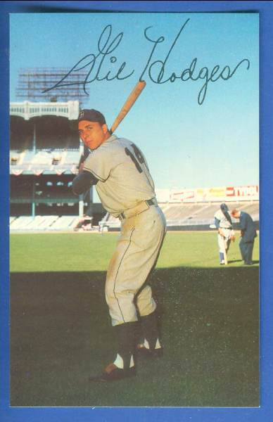 1953-55 Dormand #129 Gil Hodges SCARCE SHORT PRINT (Brooklyn Dodgers) Baseball cards value