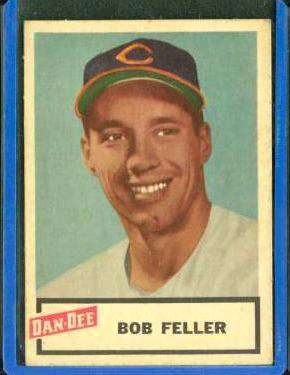 1954 Dan Dee #.6 Bob Feller (Indians) Baseball cards value