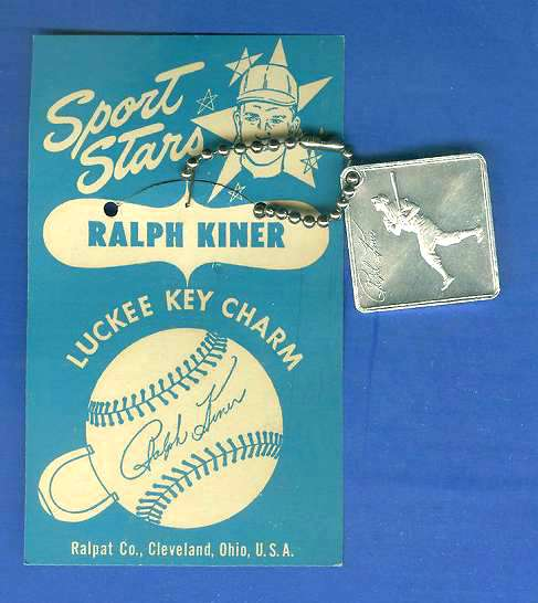 1954 LUCKEE KEY CHARM - RALPH KINER Baseball cards value