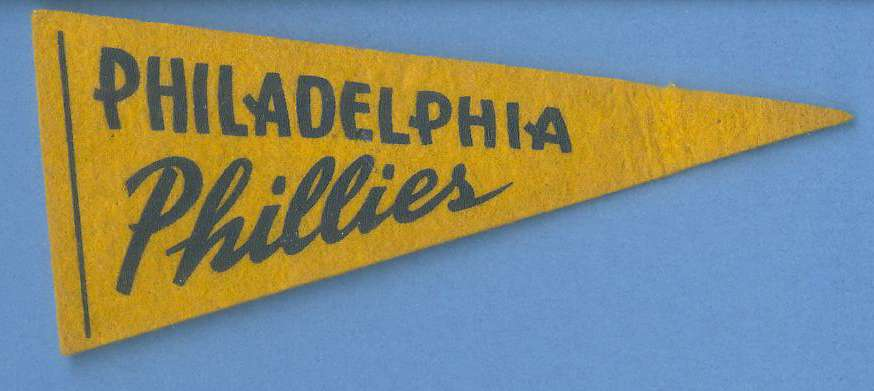1954  Philadelphia PHILLIES 5-1/2 inch PENNANT [#a] Baseball cards value