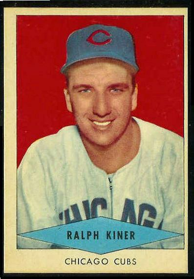 1954 Red Heart - Ralph Kiner SHORT PRINT (Cubs) Baseball cards value