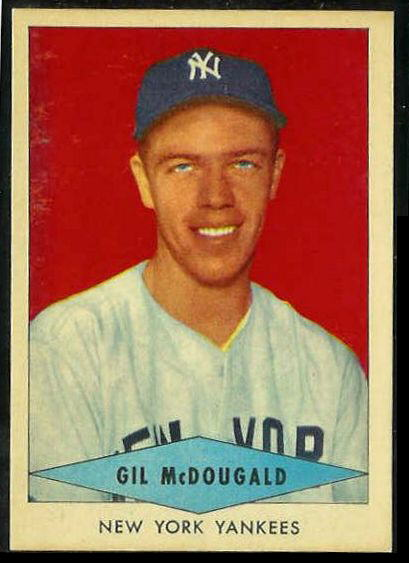1954 Red Heart - Gil McDougald SHORT PRINT [#a] (Yankees) Baseball cards value