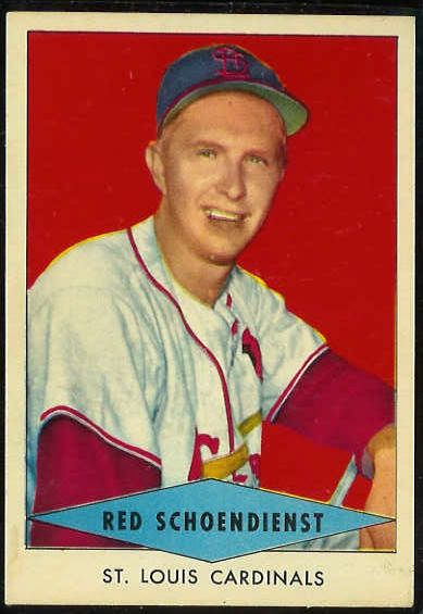 1954 Red Heart - Red Schoendienst SHORT PRINT [#a] (Cardinals) Baseball cards value
