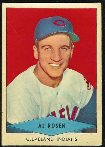 1954 Red Heart - Al Rosen SHORT PRINT [#a] (Indians) Baseball cards value